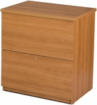 Two Drawer Standard Lateral File for Legal and Letter Sized Papers - Cappuccino Cherry [65635-2168-FS-BS]