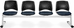 Stars 4-Beam Seating with 4 Vinyl Seats - Navy [324-VAM-605-MFO]