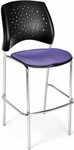 Stars Cafe Height Chair with Fabric Seat and Chrome Frame - Lavender [328C-2202-MFO]