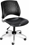Stars Swivel Plastic Chair [326-P-BLK-FS-MFO]