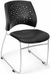 Stars Stack Chair with Vinyl Seat - Black [325-VAM-606-MFO]