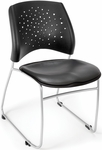 Stars Stack Chair with Vinyl Seat - Charcoal [325-VAM-604-MFO]