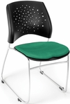 Stars Stack Chair - Forest Green Seat Cushion [325-2221-MFO]