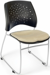 Stars Stack Chair - Khaki Seat Cushion [325-2209-MFO]