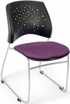 Stars Stack Chair - Plum Seat Cushion [325-2214-MFO]