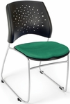 Stars Stack Chair - Shamrock Green Seat Cushion [325-2201-MFO]