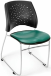 Stars Stack Chair with Vinyl Seat - Teal [325-VAM-602-MFO]