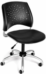 Stars Swivel Chair with Vinyl Seat - Black [326-VAM-606-FS-MFO]