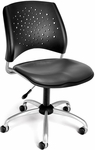 Stars Swivel Chair with Vinyl Seat - Charcoal [326-VAM-604-FS-MFO]