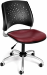Stars Swivel Chair with Vinyl Seat - Wine [326-VAM-603-FS-MFO]