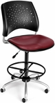 Stars Swivel Chair with Vinyl Seat and Drafting Kit - Wine [326-VAM-DK-603-FS-MFO]