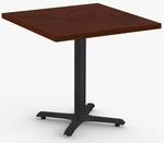 StarX 1 Day Quick Ship 36'' x 36'' Breakroom Table with Cast Iron X-Base [1D-STRX-3636-SPT]