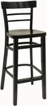 Steak House Wood Barstool - Black Finish [850-BS-VS-B-SAT]