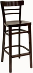 Steak House Wood Barstool - Dark Mahogany Finish [850-BS-VS-DM-SAT]