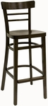 Steak House Wood Barstool - Walnut Finish [850-BS-VS-W-SAT]
