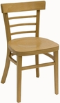 Steak House Wood Guest Chair - Natural Finish [850-VS-N-SAT]