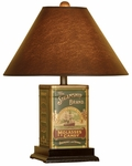 Steamship Tin Canister 21''H Lamp with Oil Parchment Shade - Brown and Green [10T219-FS-PAS]