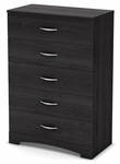 Step One Collection 5-Drawer Chest Grey Oak [3137035-FS-SS]