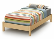 Step One Collection Twin Platform Bed (39'') Natural Maple