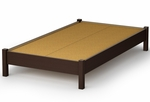 Step One Collection Twin Platform Bed in Chocolate [3159205-FS-SS]