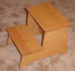 Traditional Wood Finish Step Stool [SS-1419-HEL]
