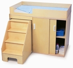 Step Up Toddler Changing Cabinet with Pull Out Stairs [WB0648-FS-WBR]