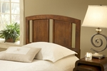 Stephanie Solid Wood Headboard with Rails - Full or Queen - Dark Walnut [1652HFQR-FS-HILL]
