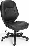 Stimulus Leatherette Ergonomic Mid-Back Task Chair - Black [521-LX-T-FS-MFO]