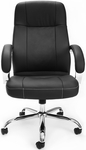 Stimulus Leatherette Executive High-Back Chair - Black [516-LX-T-FS-MFO]