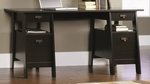 Stockbridge 59''W x 29'''H Wooden Executive Trestle Desk with 4 Drawers - Jamocha [409128-FS-SRTA]