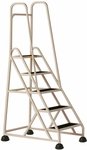 Stop Step 5 Step Ladder with Double Handrail - Beige [1053-19-FS-CRA]