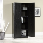 Wooden 30''W x 71''H Storage Cabinet with 6 Adjustable Shelves - Ebony Ash [410814-FS-SRTA]