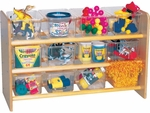 Storage Cabinet with 12 Clear Trays [ECSTORTTCL12-VCO]
