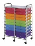 20 Drawer Chrome Frame Storage Cart - Multicolor [SC20MCDW-FS-ALV]