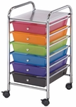6 Drawer Chrome Frame Storage Cart - Multicolor [SC62MC-FS-ALV]