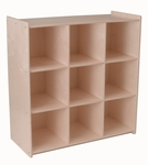 American Made Baltic Birch 9 Compartment Storage Cubby - Unfinished [064-UNF-FS-LC]