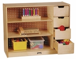 Stationary Storage Module with Shelves and Drawers [0405JC-JON]