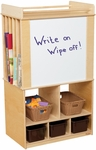 Store-It-All Teaching Center with Brown Trays and Dry Erase Board - 30''W x 18''D x 51''H [99542-WDD]