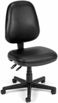 Straton Series Anti-Microbial and Anti-Bacterial Vinyl Task Chair - Black [119-VAM-606-FS-MFO]
