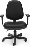 Straton Series Anti-Microbial and Anti-Bacterial Vinyl Task Chair with Arms - Black [119-VAM-AA-606-FS-MFO]