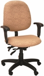 Stratus 24.5'' W x 22'' D x 40'' H Adjustable Height and Width Mid-Back Chair with Executive Control [E-31754-FS-EOF]