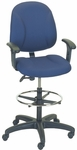 Stratus 24.5'' W x 22'' D x 40'' H Adjustable Height and Width Mid-Back Chair with Stool Conversion and Deluxe V Task Control [E-31752V-ST-FS-EOF]