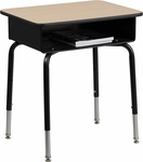 Student Desk with Open Front Metal Book Box [FD-DESK-GG]
