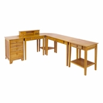 Studio 5-Pc Home Office Set [99555-FS-WWT]