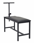 Lightweight Portable Studio Bench with Adjustable Drawing Board Post - Black [13202-FS-SDI]