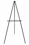 Solid Wood Frame Height Adjustable Portable Studio Display Easel - Black [13206-FS-SDI]