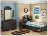 Summer Breeze Bedroom Collection in Chocolate - South Shore