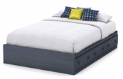 Summer Breeze Collection Full Mates Bed (54'') Blueberry