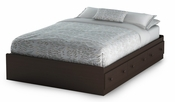 Summer Breeze Collection Full Mates Bed (54'') Chocolate