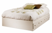 Summer Breeze Collection Full Mates Bed (54'') White Wash